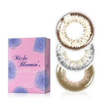 新视野Miche Bloomin蜜丝纶美月抛彩色隐形眼镜1片装