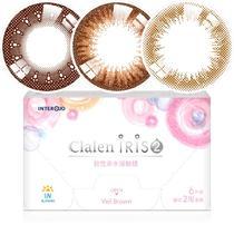 茵洛Clalen iris2双周抛彩色隐形眼镜6片装