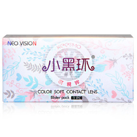NEO可视眸经典款半年抛彩色眼镜美瞳1片装-小黑环NC012