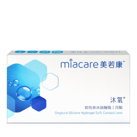 Miacare美若康沐氧硅水凝胶隐形眼镜月抛2片装
