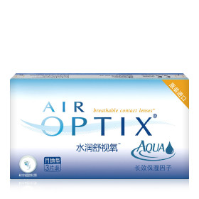 爱尔康视康水润舒视氧硅水凝胶隐形眼镜月抛3片装