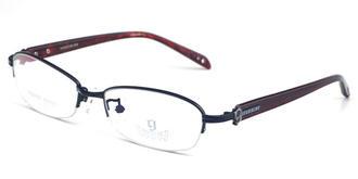 哥拓普金属板材眼镜架 LV-7072 黑色/-/玫瑰红