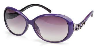 朵米娜休闲时尚太阳镜 欧美潮范 2107 紫色/渐进紫色/紫色