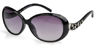 朵米娜休闲时尚太阳镜 欧美潮范 2107 黑色/渐进紫色/黑色