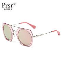 帕莎偏光太阳镜女时尚粉色眼睛圆框