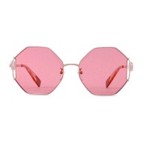 FURLA 芙拉女士金属全框时尚墨镜太阳镜 潮流镂空设计 SFU347