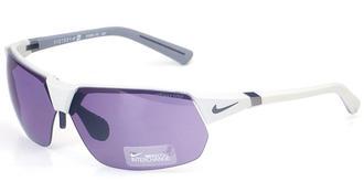 耐克太阳镜NIKE EV0596 白色/紫色/白色